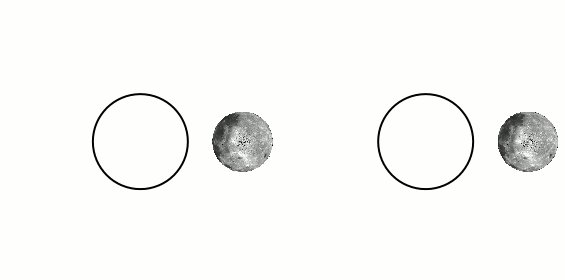 Tidal locking of the Moon with the Earth